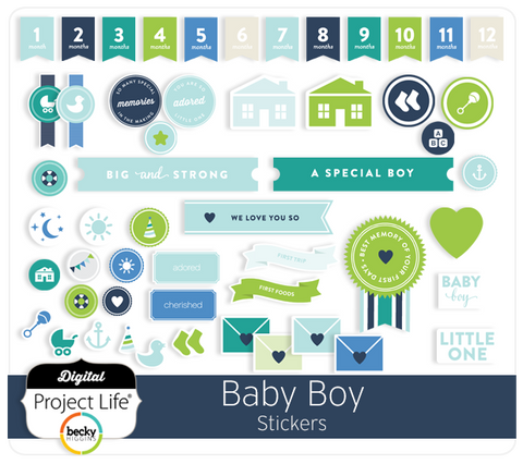 Baby Boy Edition Stickers