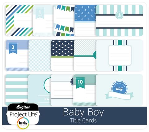 Baby Boy Edition Title Cards