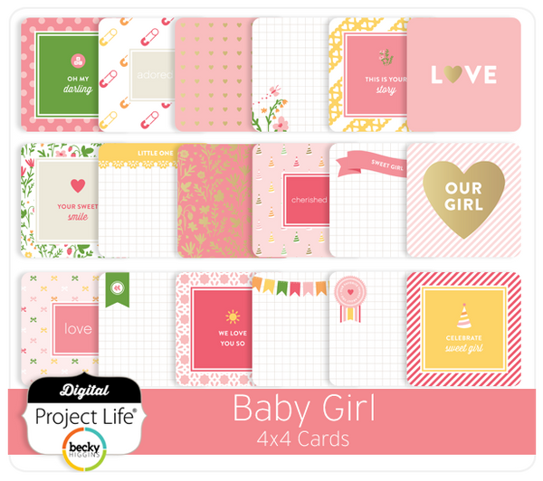 Baby Girl Edition 4x4 Cards