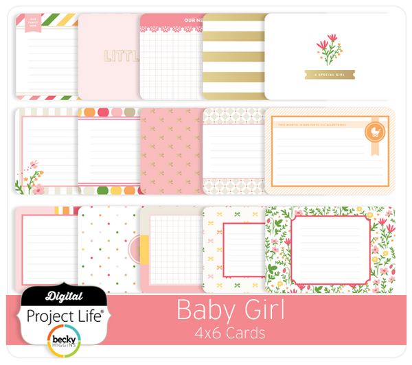 Baby Girl Edition 4x6 Cards