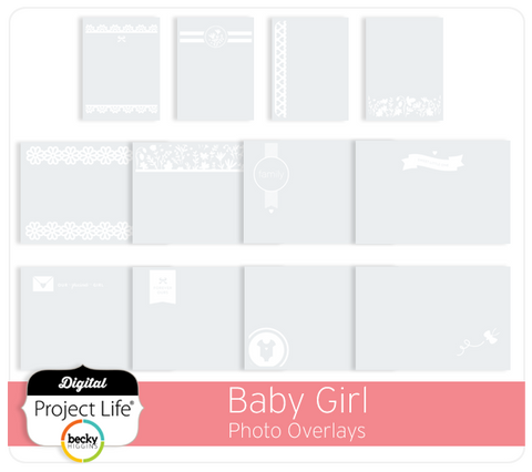 Baby Girl Edition Photo Overlays