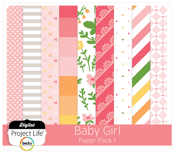 Baby Girl Edition Paper Pack 1