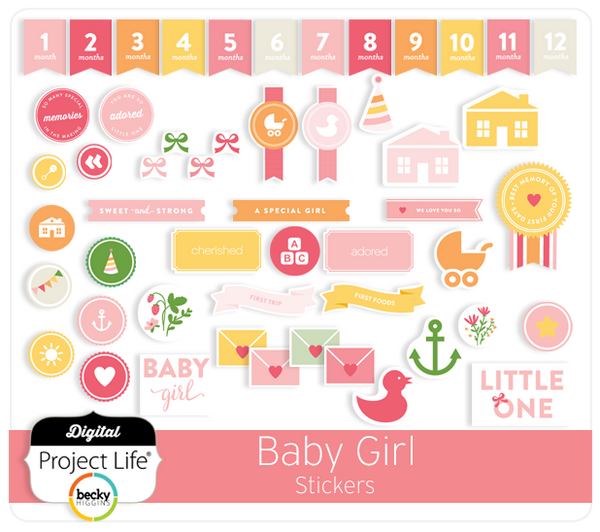 Baby Girl Edition Stickers