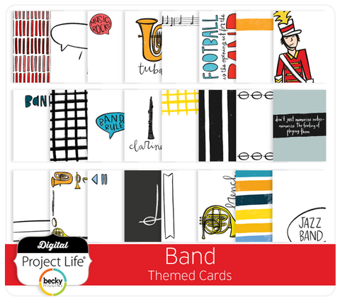 Band Themed Cards