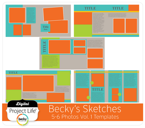 Becky's Sketches 5-6 Photos Templates Vol. 1