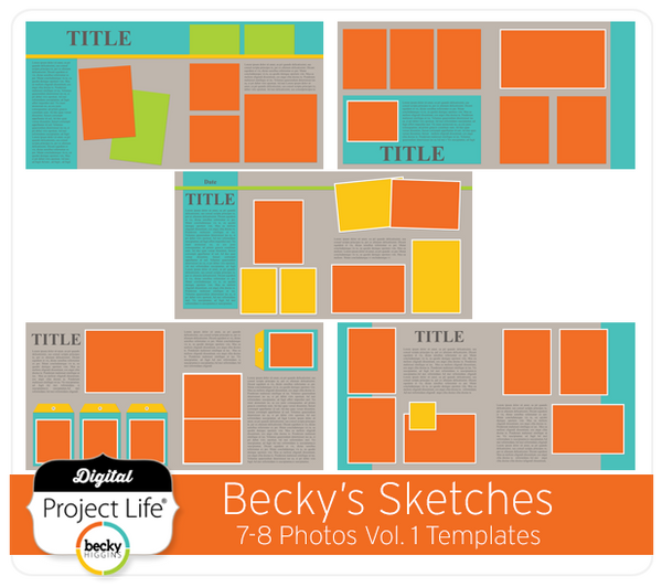 Becky's Sketches 7-8 Photos Templates Vol. 1