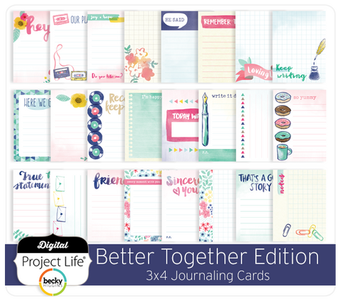 Better Together Edition 3x4 Journaling Cards