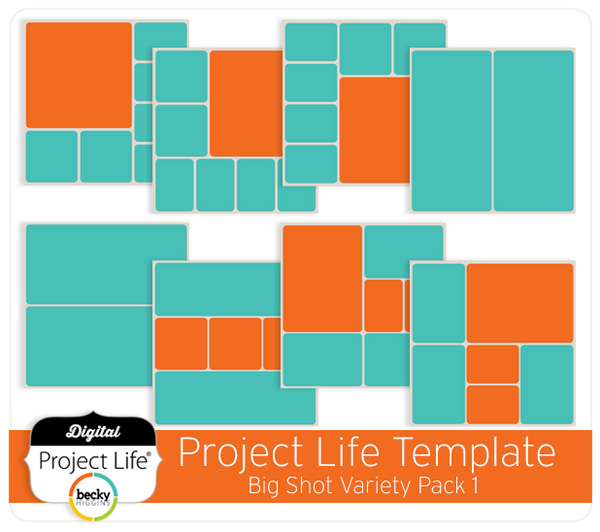Project Life Templates Big Shot Variety Pack 1