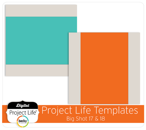 Project Life Templates Big Shot 17 & 18