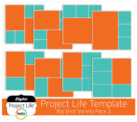 Project Life Templates Big Shot Variety Pack 3