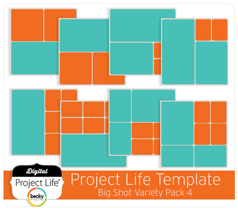 Project Life Templates Big Shot Variety Pack 4