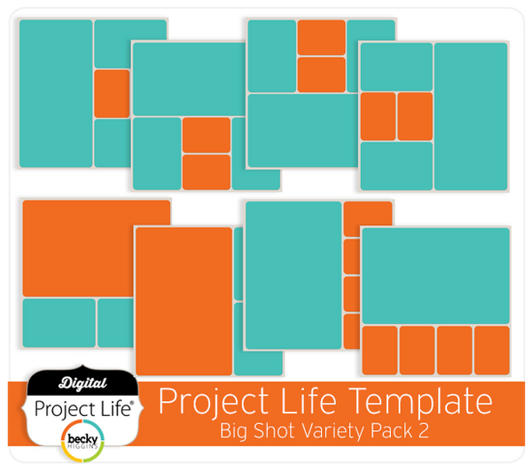 Project Life Templates Big Shot Variety Pack 2