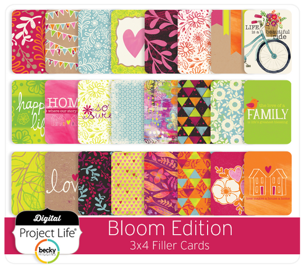 Bloom Edition 3x4 Filler Cards