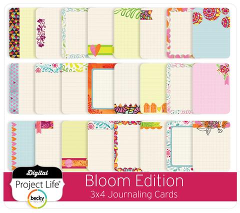 Bloom Edition 3x4 Journaling Cards