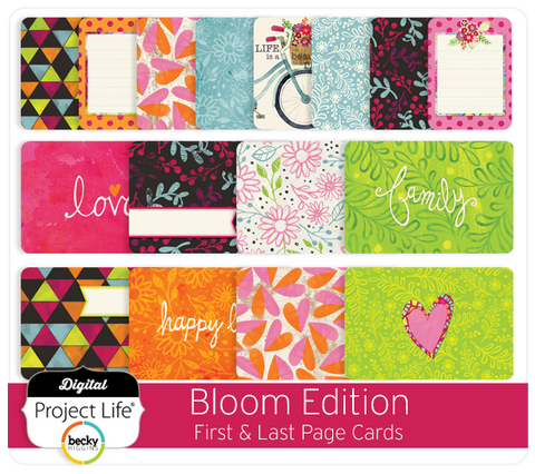 Bloom Edition First & Last Page Cards