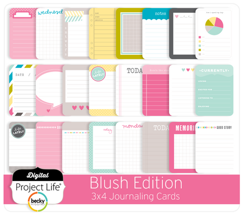 Blush Edition 3x4 Journaling Cards