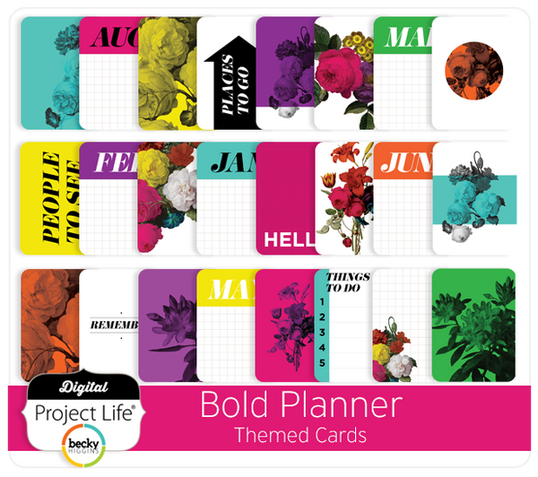 Bold Planner Themed Cards