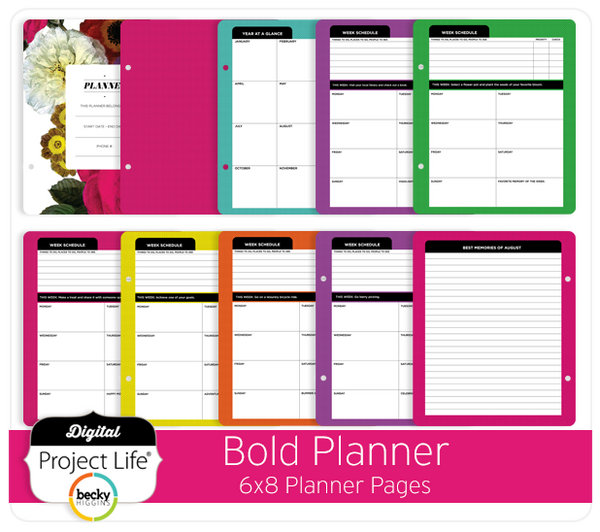 Bold Planner 6x8 Pages