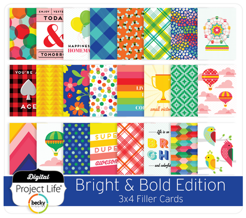 Bright & Bold Edition 3x4 Filler Cards