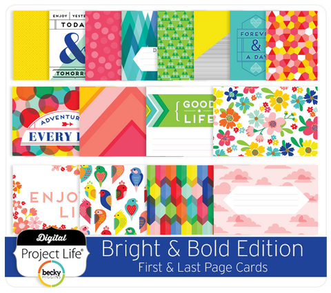 Bright & Bold Edition First & Last Page Cards