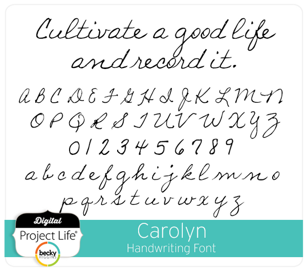 Carolyn Handwriting Font