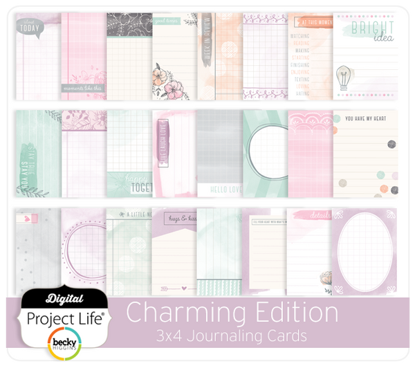Charming Edition 3x4 Journaling Cards