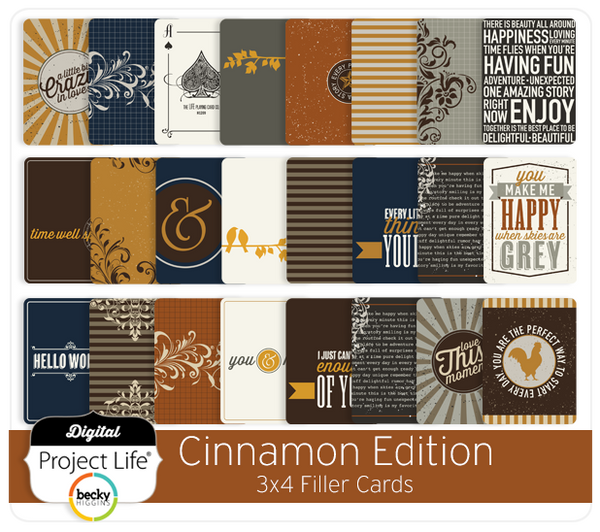 Cinnamon Edition 3x4 Journaling Cards