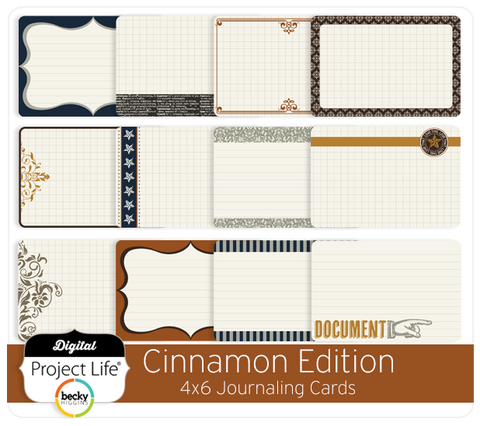 Cinnamon Edition Bi-Fold Journaling Cards
