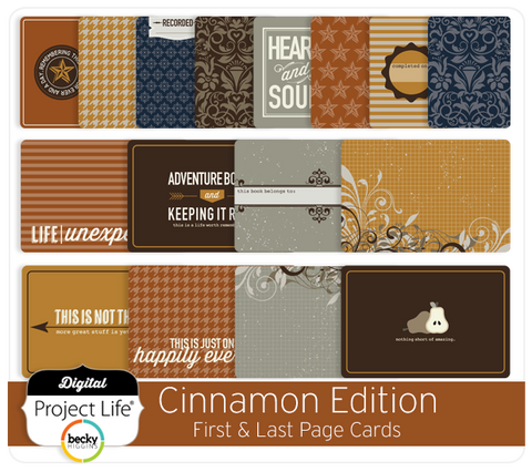 Cinnamon Edition First + Last Page Cards