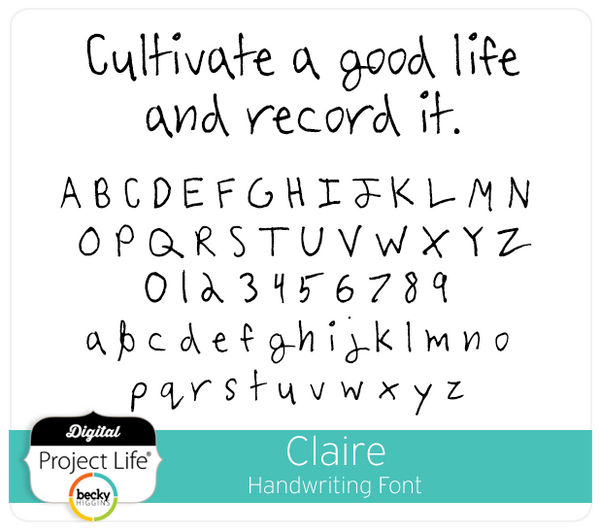 Claire Handwriting Font