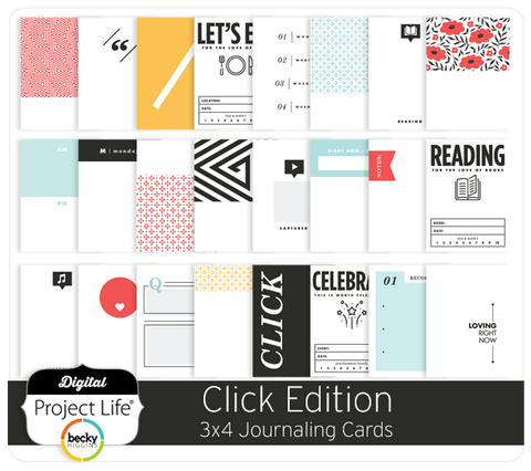 Click Edition 3x4 Journaling Cards