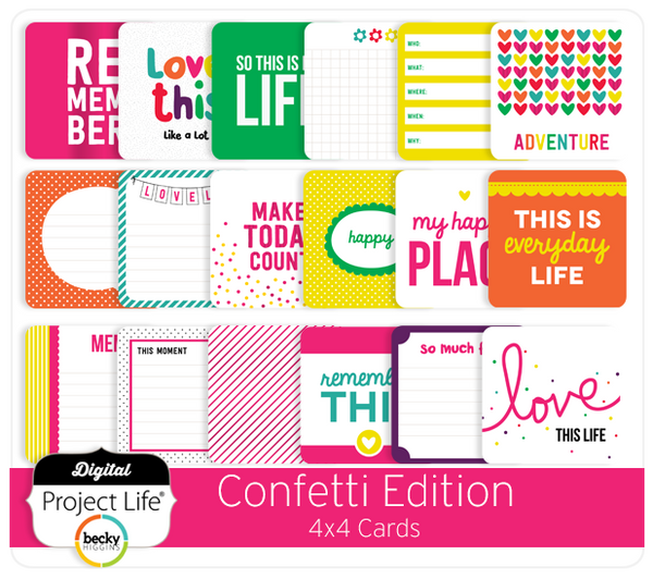 Confetti Edition 4x4 Cards