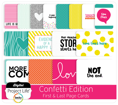 Confetti Edition First & Last Page Cards