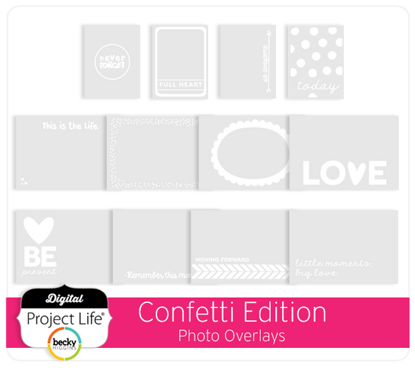Confetti Edition Photo Overlays