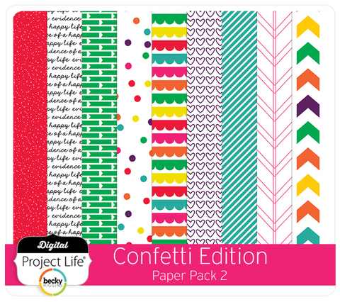Confetti Edition Paper Pack 2