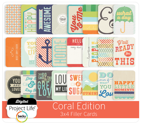 Coral Edition 3x4 Filler Cards