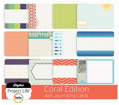 Coral Edition 4x6 Bi-Fold Journaling Cards