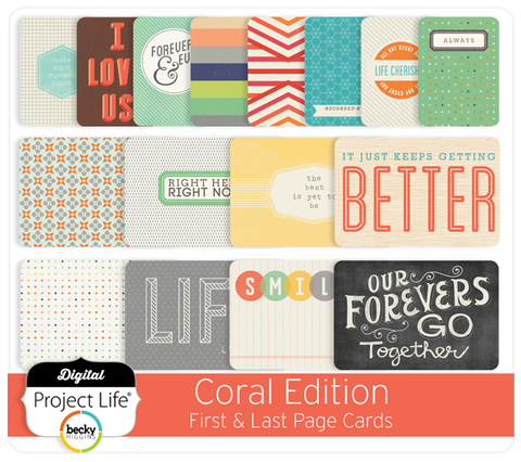 Coral Edition First & Last Page Cards