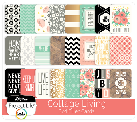 Cottage Living Edition 3x4 Filler Cards