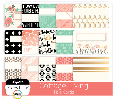 Cottage Living Edition Title Cards