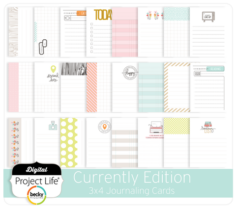 Currently Edition 3x4 Journaling Cards