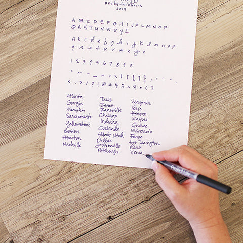 Custom Handwriting Font - International