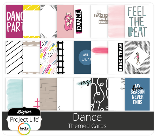 Dance Themed Cards