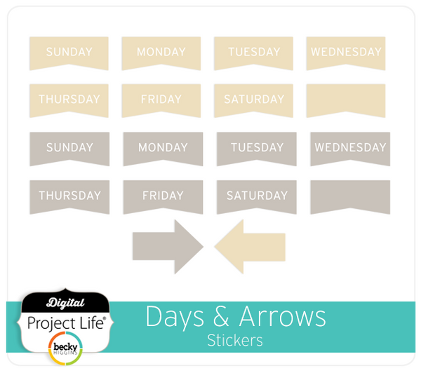 Days & Arrows Stickers
