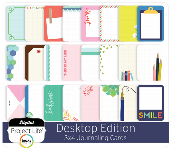 Desktop Edition 3x4 Journaling Cards