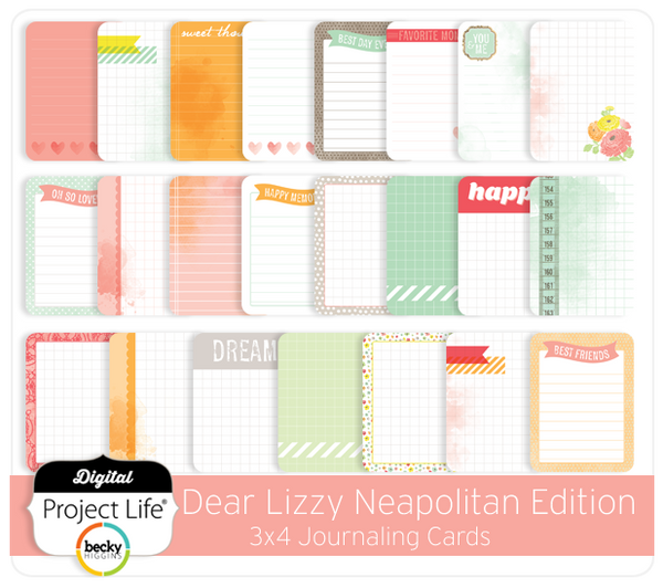 Dear Lizzy Neapolitan 3x4 Journaling Cards