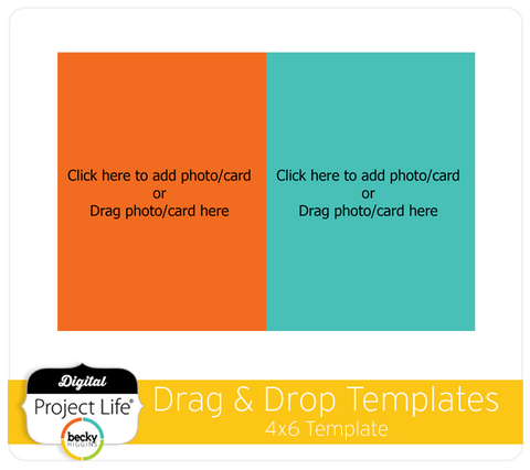 Drag & Drop Templates 4x6 Design