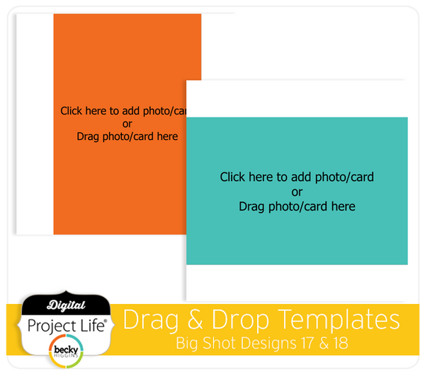 Drag & Drop Templates Big Shot Designs 17 & 18