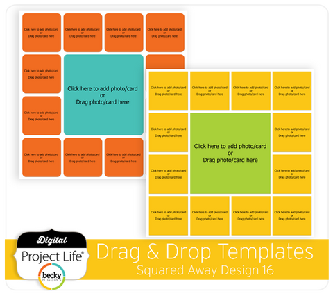 Drag & Drop Templates Squared Away 16