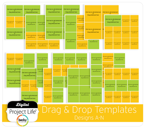 Drag & Drop Templates Designs A-N
